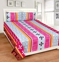 Zain Cotton Geometric Double Bedsheet(1 DOUBLE BED SHEET, 2 PILLOW COVERS, MULTI COLOUR) best price on Flipkart @ Rs. 499