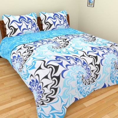 The Home Story Satin, Cotton Floral Double Bedsheet