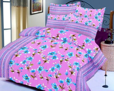 SurprizeMe Cotton Floral King sized Double Bedsheet