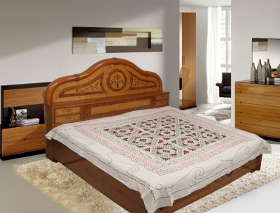 Navrang Colours of India Cotton Embroidered Double Bedsheet