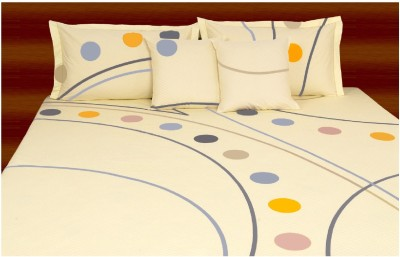 Livanto Cotton Abstract Queen sized Double Bedsheet