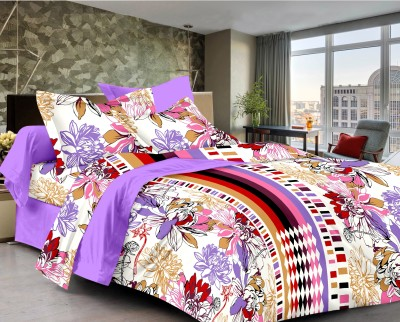 Classic Furnishing Plus Satin Floral Double Bedsheet