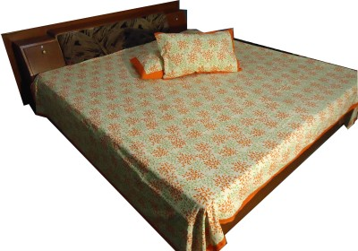 Jaipur Art and Craft Cotton Floral King sized Double Bedsheet