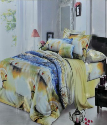 countingbeds Polycotton Abstract Double Bedsheet