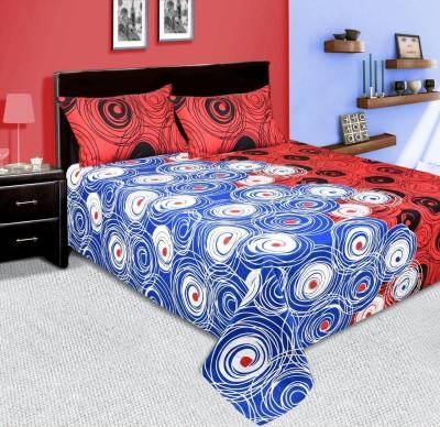 mahirfurnishings Cotton Geometric Double Bedsheet