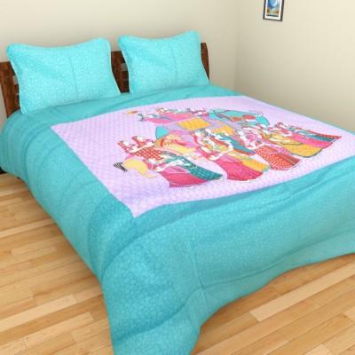 Rajkruti Cotton Printed Double Bedsheet