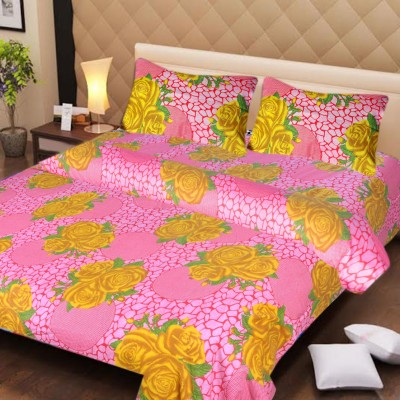 Ech Oly Polycotton Printed Double Bedsheet