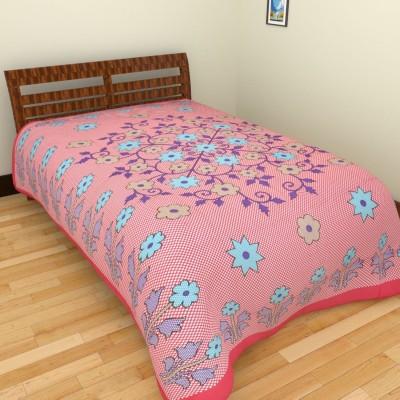 Spangle Cotton Printed Single Bedsheet