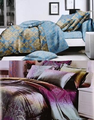 Home Basics Polycotton Printed King sized Double Bedsheet