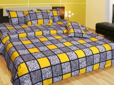 Ruhi Home Furnishing Cotton Checkered Double Bedsheet