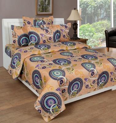 NIRWANA Polycotton Motifs Double Bedsheet