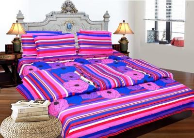 Decor Vatika Cotton Striped Double Bedsheet