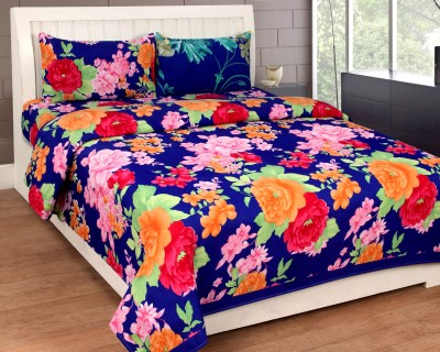 Mesmeric Polycotton 3D Printed Queen sized Double Bedsheet