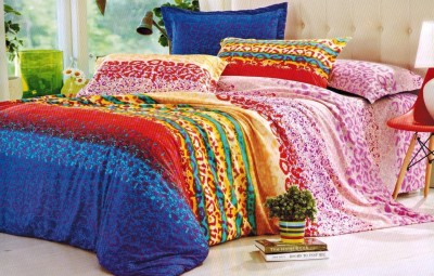 Balaji Creations Polycotton Double Bedsheet