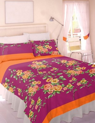 Splash Polycotton Floral Double Bedsheet