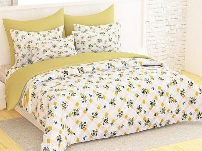 Ahem Homes Cotton Floral Double Bedsheet