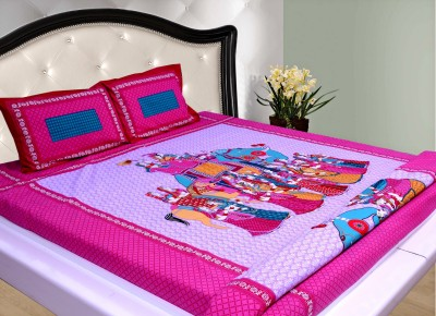 THOIDAM Cotton Printed Double Bedsheet