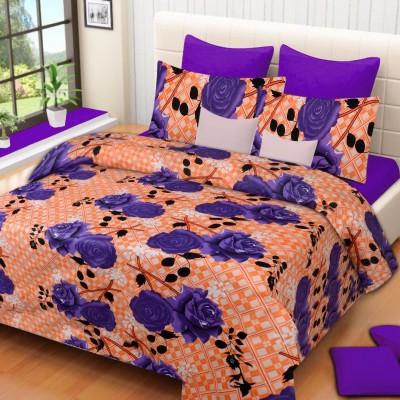 VCS Polycotton Printed Double Bedsheet