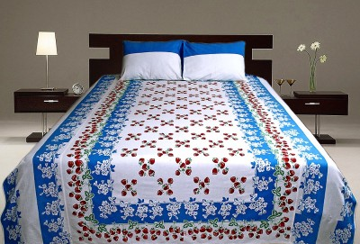 Sriam Cotton Floral King sized Double Bedsheet