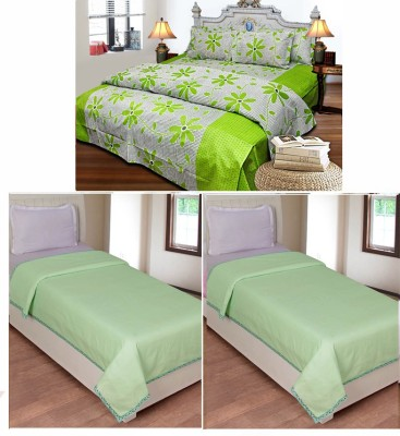 Jars Collections Cotton Printed Double Bedsheet