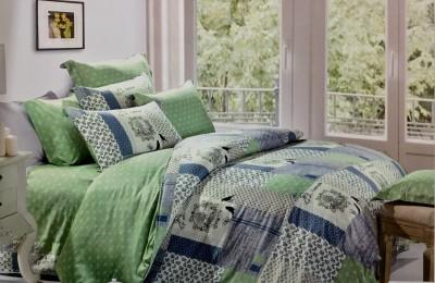Fashion Pujari Cotton Printed King sized Double Bedsheet