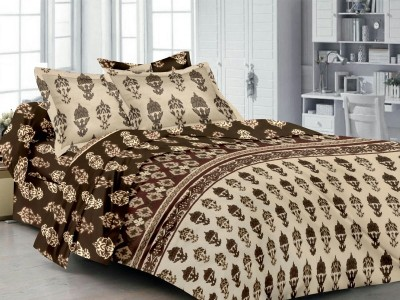 Ahmedabad Cotton Cotton Printed Double Bedsheet