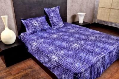 Banana Prints Cotton Geometric Double Bedsheet