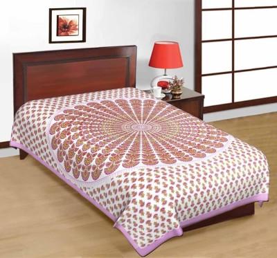Manasvi Innovation Cotton Printed Single Bedsheet