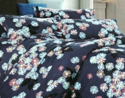 Night Gold Polycotton Floral Double Bedsheet
