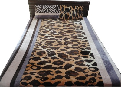 Amk Home Decor Silk Blend Paisley Double Bedsheet