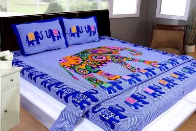 THOIDAM Cotton Animal Double Bedsheet