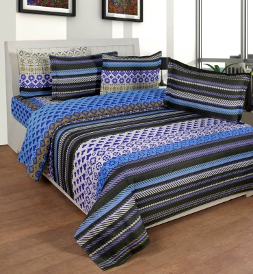 FLINT by Roschelle Polycotton Printed Double Bedsheet