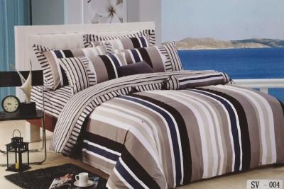 I-Dream Decor Cotton Striped Double Bedsheet