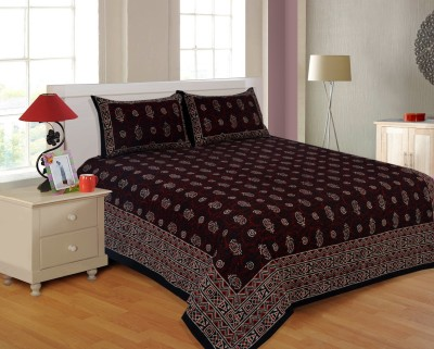 Salona Bichona Cotton Printed Double Bedsheet