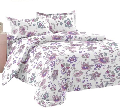 Manzoni by KAWAI COLLECTION Cotton Floral Double Bedsheet