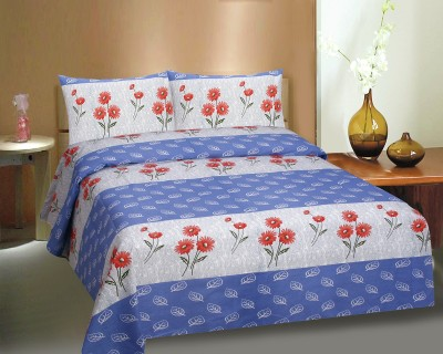 Ctm Textile Mills Polycotton Abstract Queen sized Double Bedsheet