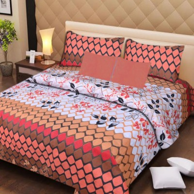 Aazeem Cotton Abstract Double Bedsheet
