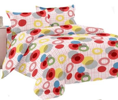 Manzoni by KAWAI COLLECTION Cotton Geometric Double Bedsheet