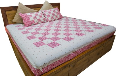 Stole & Yarn Cotton Floral Double Bedsheet