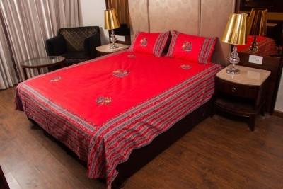 HandiCave Cotton Printed Double Bedsheet