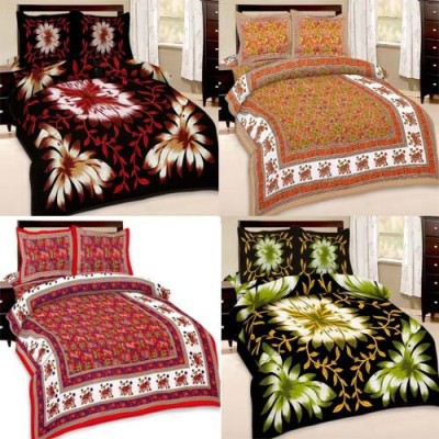 cubee Cotton Floral Double Bedsheet