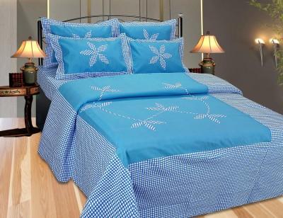 Decor Vatika Cotton Embroidered Double Bedsheet