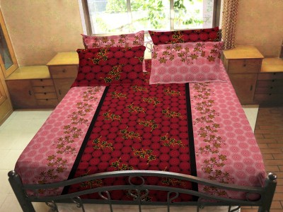 HEMLINES Cotton Polka Double Bedsheet