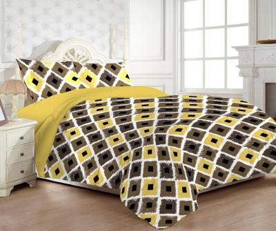 MYCK Cotton Geometric Double Bedsheet