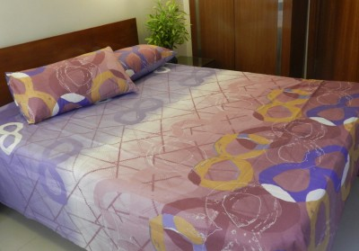 CocoBee Cotton Abstract Double Bedsheet