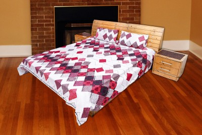 Arizen Cotton Geometric King sized Double Bedsheet