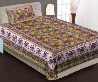 Jaipuri Haat Cotton Printed Single Bedsheet