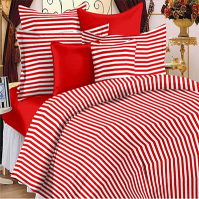 Always Plus Cotton Striped Double Bedsheet