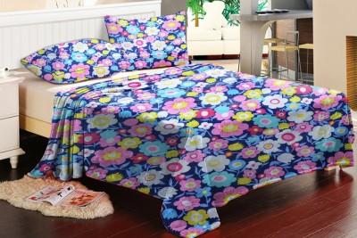 Brand Decor Polycotton Floral Double Bedsheet