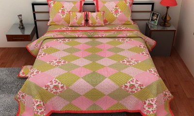 Om Prints Cotton Geometric Double Bedsheet